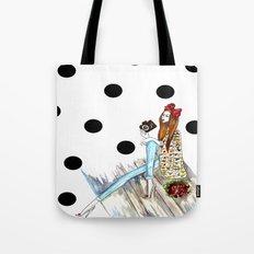 Dots & bow Tote Bag