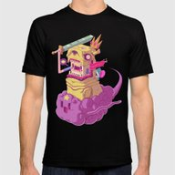 Finn And Jake Mens Fitted Tee Black SMALL