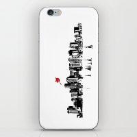 Boston Skyline Silhouette iPhone & iPod Skin