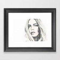 Cara Delevigne Framed Art Print