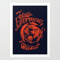 Enormous Grizzly Art Print