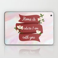 Home Is - In Red Laptop & iPad Skin