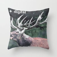 Analog + Digital Throw Pillow