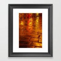 Orange Pave Framed Art Print