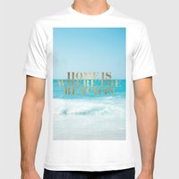 Home Is Where The Beach … Mens Fitted Tee White SMALL
