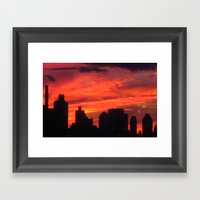 City Sunset Framed Art Print