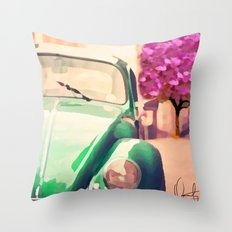 Vintage Beetle   Throw Pillow