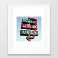Sowell Beer and Liquor (Square) Framed Art Print