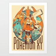 Pokemon XY Megavolution Art Print
