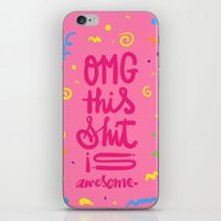 OMG this shit is awesome iPhone & iPod Skin