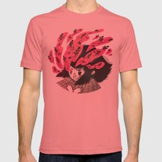 Nature vs Nurture Mens Fitted Tee Pomegranate SMALL
