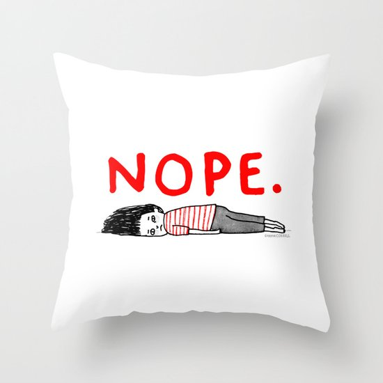 Nope Throw Pillow