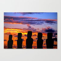 TOUCHED BY FIRE Canvas Print
