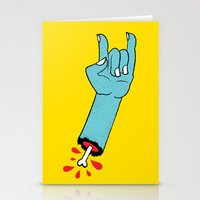 Throwin' Up the Horns Stationery Cards