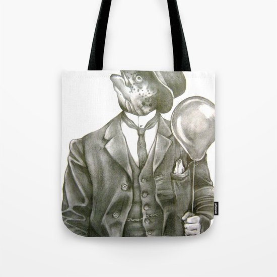 In which nothing says happy birthday like a fish in a suit Tote Bag