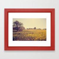 Vintage Field  Framed Art Print