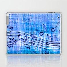 more music, blue Laptop & iPad Skin