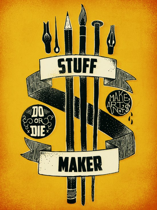 Stuff Maker Art Print
