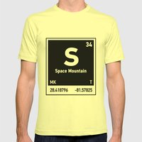 elements of S (Space Mountain) Mens Fitted Tee Lemon SMALL