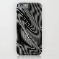 Minimal curves black iPhone 6 Slim Case