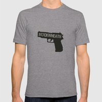 Buckwheats Mens Fitted Tee Athletic Grey SMALL