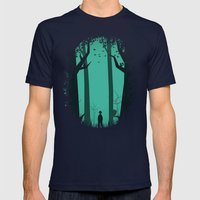 Lost In The Woods Mens Fitted Tee Navy SMALL
