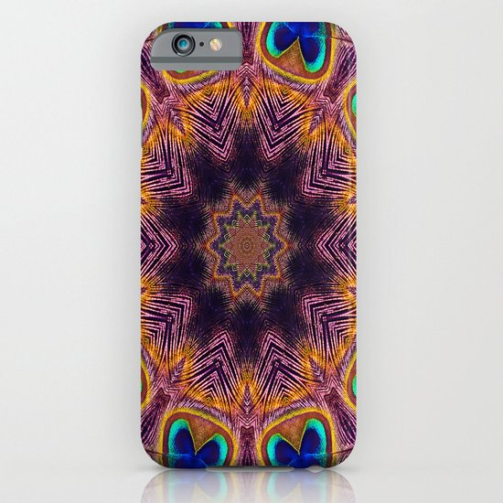 Peacock Fan Star Abstract iPhone & iPod Case