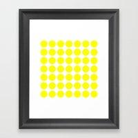 BIG YELLOW DOT Framed Art Print