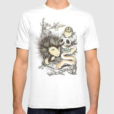 Haunters of the Waterless Mens Fitted Tee SMALL White