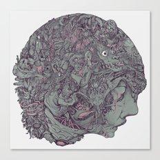 In Mind Head Canvas Print