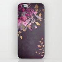 FLOWERS & GOLD  iPhone & iPod Skin