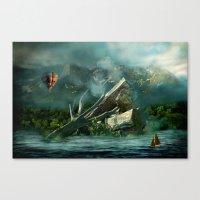the high flyer Canvas Print