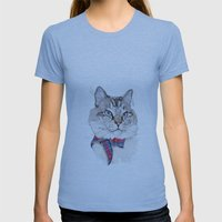 Mitzy Womens Fitted Tee Athletic Blue SMALL