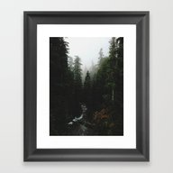 Framed Art Print featuring Rainier Creek by Kevin Russ