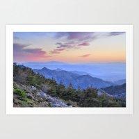 Alayos mountains at sunset Art Print