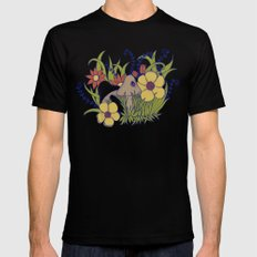 SPRING SMALL Black Mens Fitted Tee