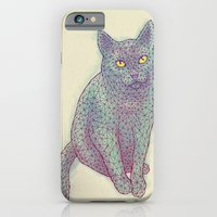 iPhone & iPod Case featuring Polycat by Jason Castillo