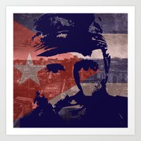 Heads Of State: Fidel Ca… Art Print