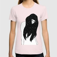 The Universe Within Womens Fitted Tee Light Pink SMALL