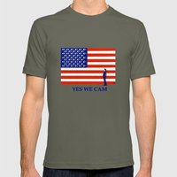 Yes We Cam Mens Fitted Tee Lieutenant SMALL