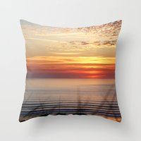 Sunset Surf Gwithian Bay Throw Pillow