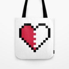 Pixel Heart Broken Tote Bag