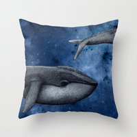 The Whale Who Met  Itself. Throw Pillow