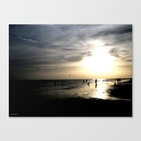 Walking Along The Sunset… Canvas Print