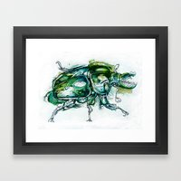 Great Green Goliath Framed Art Print