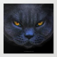Funny Cross Cat Canvas Print