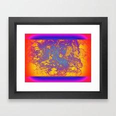 Flat Planet Framed Art Print