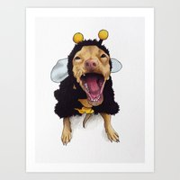 Chihuahua In Bee Costume… Art Print