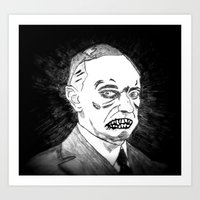 30. Zombie Calvin Coolidge Art Print
