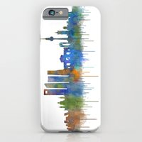 iPhone Cases featuring Madrid City Skyline HQ v4 by hqphoto
